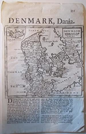 Denmark, Dania. Map from A system of Geography: Moll, Herman (engraver)