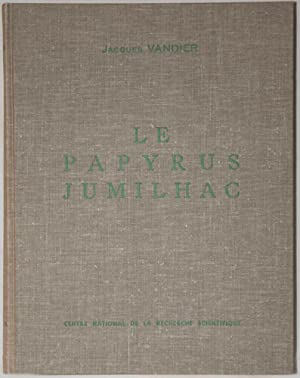 Le papyrus Jumilhac. Text and Plates.: VANDIER Jacques