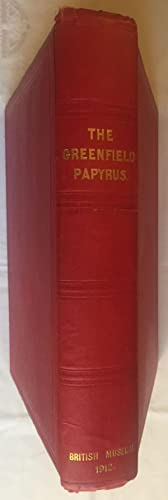 The Greenfield papyrus in the British Museum: BUDGE Ernest Alfred