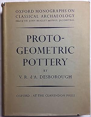 Protogeometric pottery: DESBOROUGH V. R.