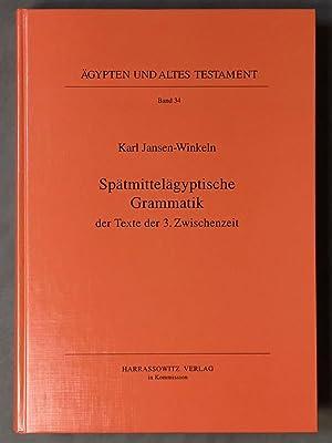 Spätmittelägyptische Grammatik der Texte der 3. Zwischenzeit: JANSEN-WINKELN Karl
