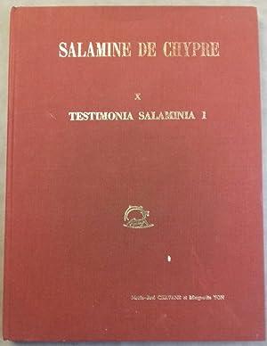 Salamine de Chypre. X, Testimonia salaminia 1.: CHAVANE Marie-José -
