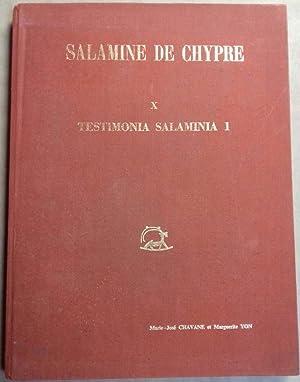 Salamine de Chypre. X. Testimonia salaminia 1.: CHAVANE Marie-José -