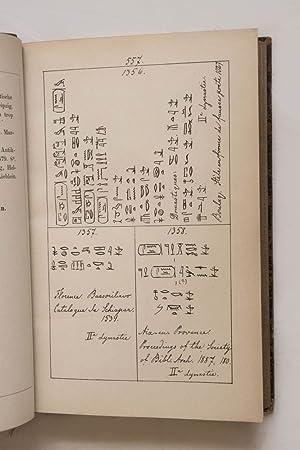 Dictionnaire des noms hiéroglyphiques en ordre généalogique et alphabé...
