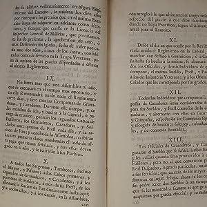 REGLAMENTO DEL NUEVO PIE, EN QUE S.M. MANDA SE ESTABLEZCAN LOS CUERPOS DE MILICIAS PROVINCIALES, ...