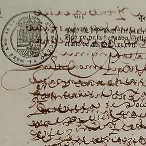 FELIPE IV SELLO TERCERO 1637: FELIPE IV