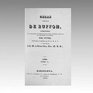 OBRAS COMPLETAS DE BUFFON (vol. 40). Aumentadas: BUFFON, Georges-Louis Leclerc