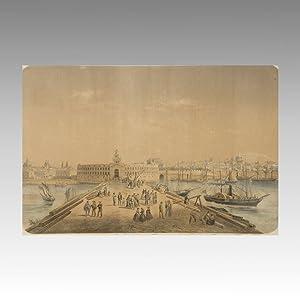BUENOS AIRES. Ca.1860. Buenos Ayres Vue prise de la place de la Douane Buenos Ayres- Vista tomada ...