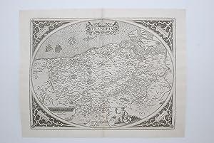 FLANDES (1579). FLANDRIA. (INFERIOR IZQUIERDA EN EL: ORTELIUS, Abraham