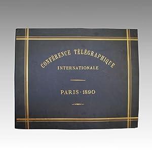 CONFÉRENCE TÉLÉGRAPHIQUE INTERNATIONAL PARIS (1890) ALBUM FOTOGRAFICO ...