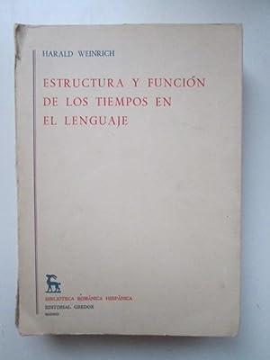 Estructura y función de los tiempos en el lenguaje: Harald Weinrich