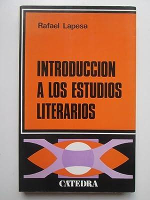 Introducción a los estudios literarios: Rafael Lapesa
