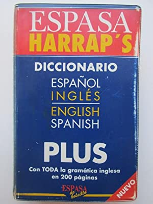 Diccionario Espasa Harrap's Plus español inglés - english spanish