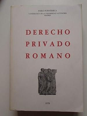 Derecho privado romano: Pablo Fuenteseca