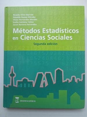 Métodos estadísticos en Ciencias Sociales: Ricardo Vélez Ibarrola,