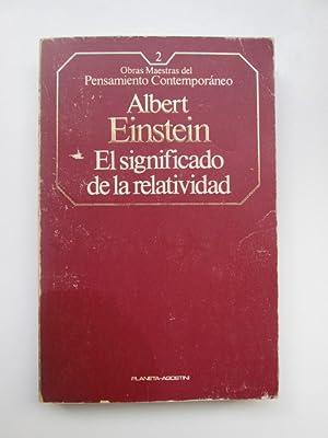 El Significado de la relatividad: Einstein, Albert