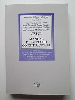 Manual De Derecho Constitucional.