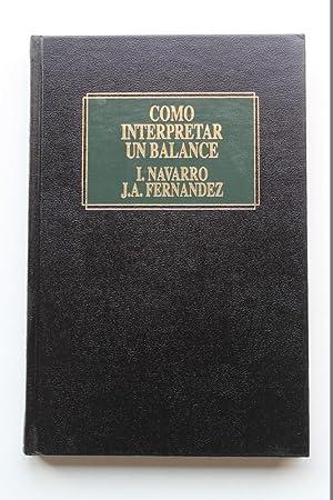 Cómo Interpretar Un Balance: José António Fernandez