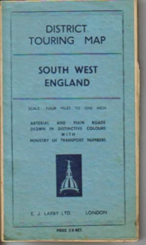 District Touring Map South West England