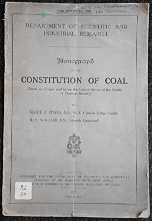 Monograph on the constitution of Coal