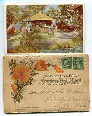 The Golden Gate Folder Souvenir Postal Card: