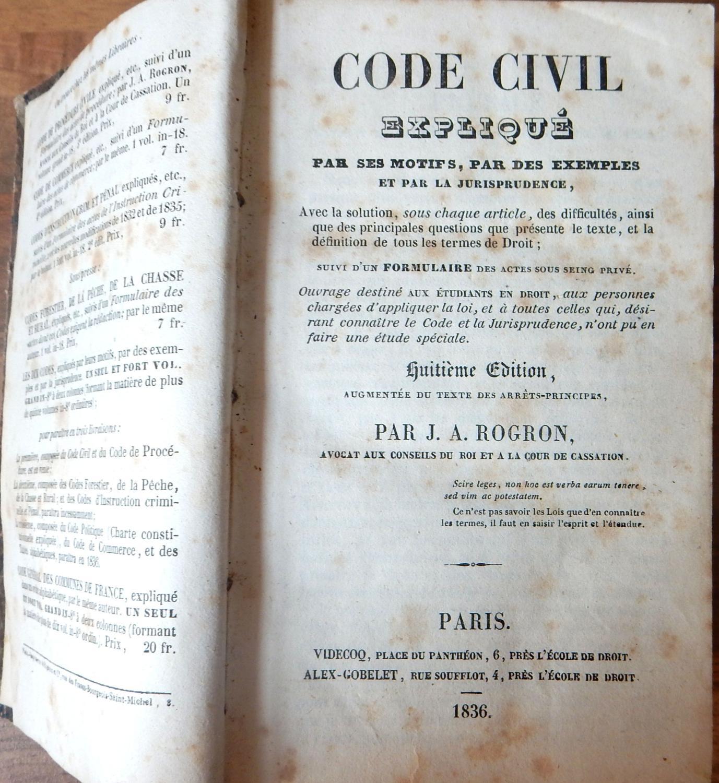 Code Civil expliqué par ses motifs, par des exemples et ...