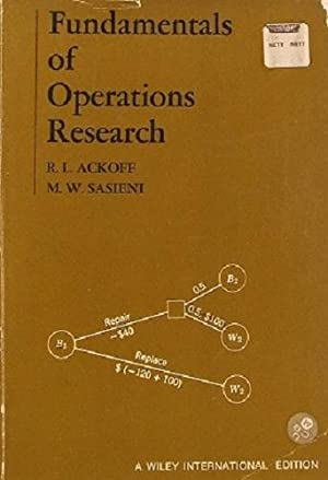 Fundamentals Of Operations Research.: Ackoff Russell L;
