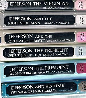 Jefferson The Virginian: 6 Vol. Set: Malone Dumas