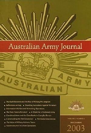 Australian Army Journal: Volume 1, Number 2,: Evans Michael; Ryan