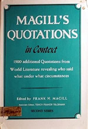 Magill's Quotations In Context Second Series: Magill Frank N