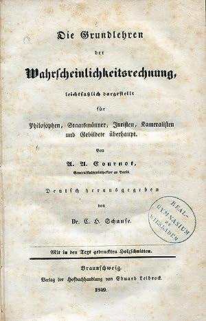 Die Grundlehren der Wahrscheinlichkeitsrechnung: leichtfaßlich dargestellt für ...