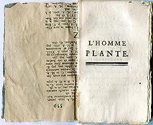 L'Homme Plante.: LA METTRIE, Julien Offray de