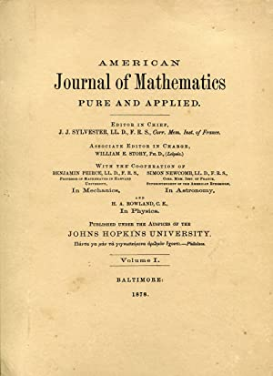 American Journal of Mathematics Pure and Applied. Volume 1. Baltimore: Johns Hopkins University, ...