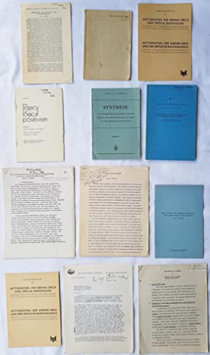 Eight offprints, three draft typescripts, and a substantial letter on philosophy of science