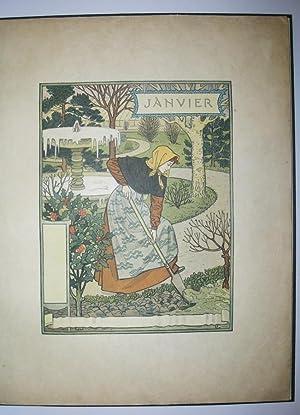 LES MOIS, Douze Compositions d'Eugène GRASSET: Eugène GRASSET