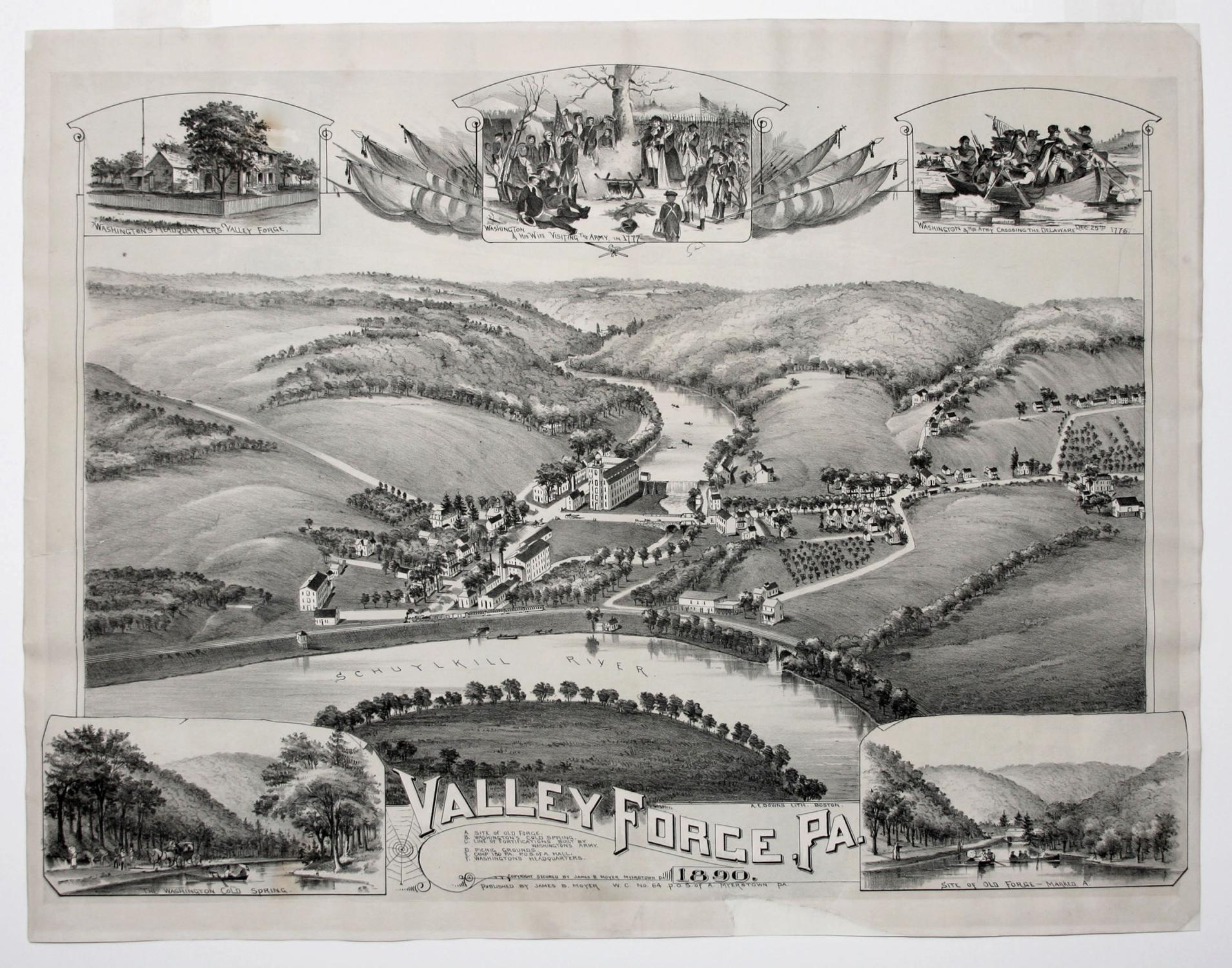 Valley Forge, Pa. 1890.: MOYER, James B./ FOWLER, T. M./ DOWNS, A. E.