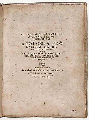 Apologia pro Galileo, Mathematico Fiorentino. Ubi disquiritur, utrum ratio philosopahndi, quam ...
