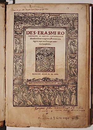 In Novum Testamentum ab eodem denuo recognitum,: ERASMUS, Desiderio /