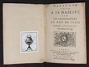 Harangue faite a Sa Majesté par les: KOSA PAN, OK-LUANG