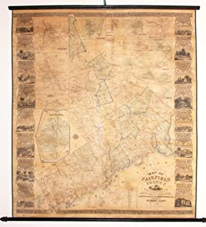Clarks¿ Map of Fairfield County, Connecticut.: CLARK, R.