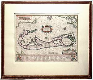 Mappa Aestivarvm Insularum, alias Barmudas.: HONDIUS, H.