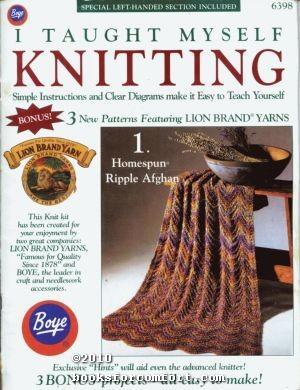 I Taught Myself Knitting Leaflet 6398: Boye Needle Co