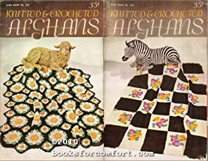 Knitted & Crocheted Afghans, Star Book 222: American Thread Co
