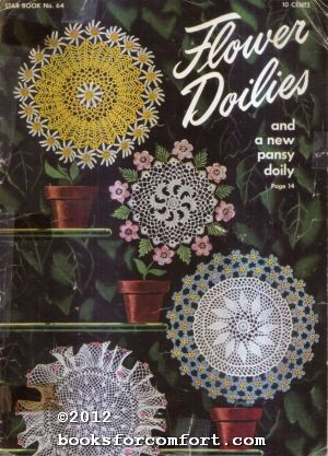 Flower Doilies and a new pansy doily,: American Thread Co