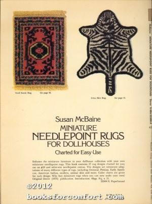 Miniature Needlepoint Rugs For Dollhouses, Charted for: Susan McBaine