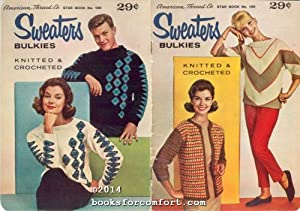 Sweaters Bulkies Knitted & Crocheted Star Book: American Thread Co