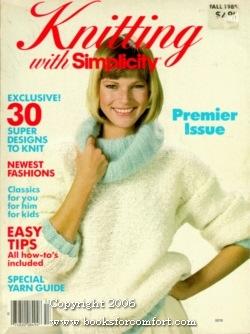 Knitting with Simplicity Vol I Fall 1985: Sonja Bjorklund Dagress,