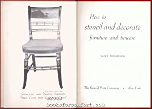 How To Stencil and Decorate Furniture and Tinware: Nancy Richardson