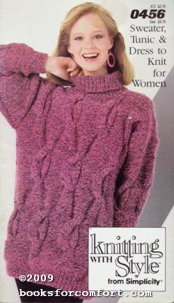 Sweater Tunic & Dress to Knit for: Simplicity
