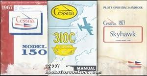 Cessna Pilots Manuals, Models 150, 310C and Skyhawk 172N, 3 Books: Cessna Aircraft Co
